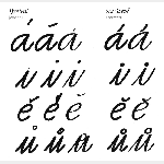 Guide to diacritics from the book Type in Advertising (Písmo v propagaci) by Bohumil Lanz and Zdeněk Němeček. Published by Merkur, Prague 1974.